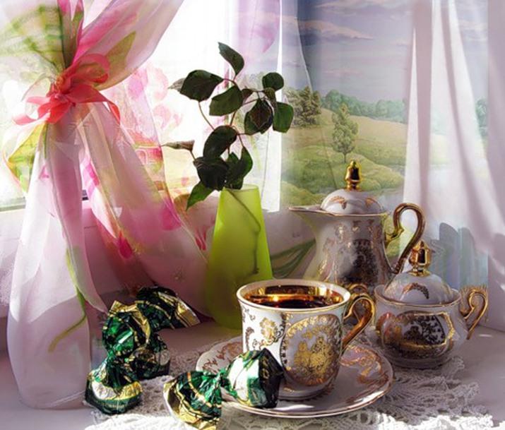Летием, чай утро открытки